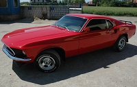 1968 Mach1 Red Mustang