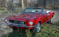 1968 Mustang Convertible Candy Apple Red 68
